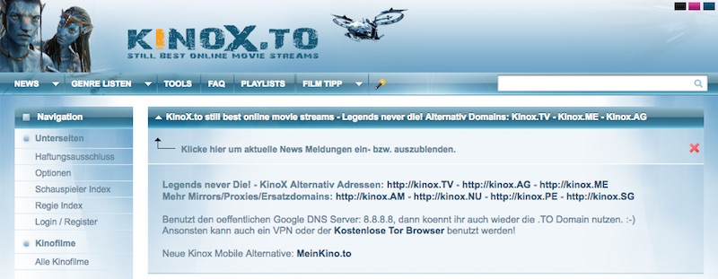 Kinox.to zockt Nutzer veralteter Android-Browser ab